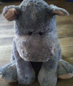 "Animal Alley Toys R Us Large Gray Hippopotamus Plush  21"" stuffed toy"