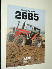 Prospectus MASSEY FERGUSSON 2685 Tracteur tractor traktor brochure prospekt