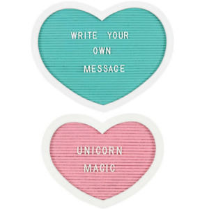 Medium Pink/Large Turquoise Heart Shaped Memo Boards with 145 Pin In Characters