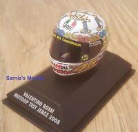 Minichamps - Valentino Rossi AGV Helmet, Jerez MotoGP 'Test' 2008 - 1/8  NEW