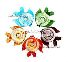 FREE Wholesale Pretty 6pcs Big Fish Lampwork Glass Pendants DIY Necklace