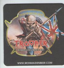 UNUSED BEERMAT -  ROBINSON BREWERY - TROOPER IRON MAIDEN (Cat 394) - (2013)