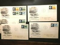 "Cachet 5 FDC  ""Anti-Pollution"" Campaign Stamps, FDCs from 1970-FINE-FREE SHIP"