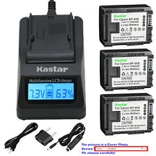 Kastar Battery LCD Fast Charger for Canon BP-808 & Canon VIXIA HF S20 Camcorder