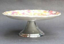 Vintage Old Foley James Kent Du Barry CHINTZ Pedestal Dish