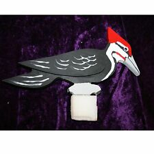 """Home Crafted, Folk Art, Hand Painted, Wood, Pileated Woodpecker, 11"""" Long"""