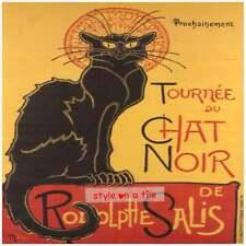 Lovely Theophile Steinlen Black Cat Chat Noir square wooden coaster mat rest