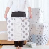 Foldable Storage Bag Clothes Blanket Quilt Closet Sweater Organizer Box Pouch H