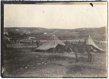 Palestine Israël Nazareth Tentes de Bédouins 9x6,5cm Voyage en Orient 1909