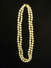 "GORGEOUS JAPANESE AKOYA SINGLE STRAND 30"" CULTURED PEARL NECKLACE 6.5 - 7.0 mm"