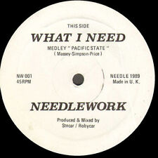 NEEDLEWORK - What I Need (Medley Pacific State) 1989 Needlework  NW001 - Uk