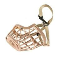 Plastic Dog Puppy Basket Type Adjustable Training Muzzle Bark Bite Chew Control