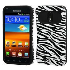 For Samsung EPIC 4G TOUCH D710 TPU Candy HYBRID GLOW Case Phone Cover Zebra