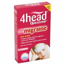 4Head QuickStrip (4)  NEW Migraine Headache Pain Relief - Best Price