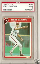 1985 FLEER PSA 9 MINT STEVE CARLTON