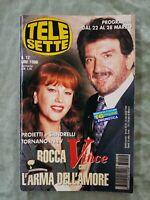86) TELESETTE ITALIAN MAGAZINE N 12/1998 SANDRELLI CASALEGNO RAFFAELLA CARRA