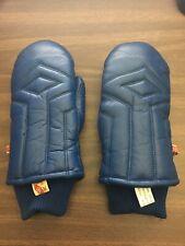 KOMBI Leather Pillow Mittens Insulated Men Med - Blue -