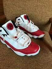 Air Jordan 6 Rings Shoes White University Red 11.5 - Very Good Condition
