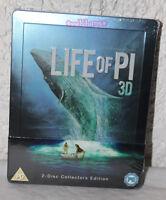 NEW Life of Pi 3D Blu-Ray Steelbook Region A and B Zavvi Exclusive U.K. Import
