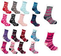 Ladies 4.7 Tog Thermal Fleece Socks Sherpa Lining Winter Lounge Slipper Bed Sock