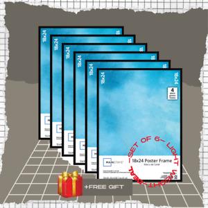 Mainstays 18x24 Basic Poster & Picture Frame, Black, VALUE Set of 6