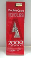 National Tinsel Vintage Double Count Icicles 2000 Strands 18 Inches