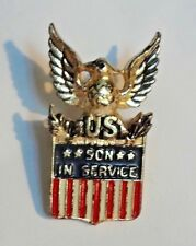 VTG WWII US Eagle Sweetheart Pin Son In Service Marked Coro Sterling