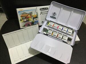 SCHMINCKE Akademie Limited Edition Watercolor Paint Set - 9 half pans