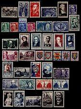 L'ANNÉE 1951 Complète, Oblitérés = Cote 103 € / Lot Timbres France 878 à 917