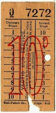 Bus ticket: Vectis Bus Service, Isle of Wight, 10d