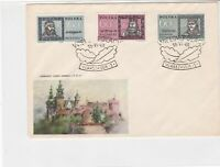 Poland 1961 Great Poles Castle pic Leafs Slogan Cancel FDC Cover Ref 25132