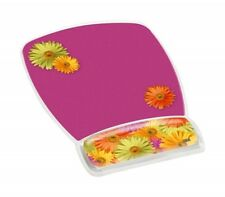 "3M MW308DS Gel Mouse Pad - 9.2"" x 6.8"" Dimension CLEAR DAISY DESIGN"