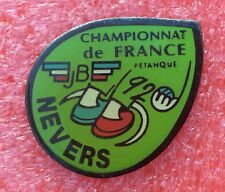 Pins Sport PÉTANQUE Championnat de France 92 NEVERS JB
