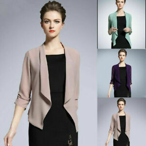 Womens Summer Sheer Jacket Coat Lady Casual Loose Shirt Open Front Tops Cover Up