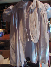 Antique Vintage Baby gown and robe. Hand made. Great for Dolls or Bears!