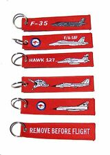 RAAF Fast Jet Remove Before Flight Key Tag Luggage Tag Key Ring Value Pack