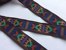 Traumschöne Borte,Indianer,Schwarz,Blau,Rot,Grün,Orange,16mm,5 Meter !
