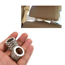 1 Pair Ice Diamond Bling Car Headrest Collars Interior Decoration 2Pcs