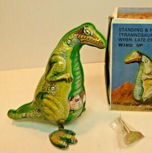 TIN~ TYRANNOSAURUS ~Late Cretaceous~   KEY WIND UP  Dinosaur T-REX  Metal      1