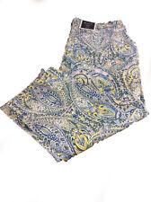 Charter Club Womens Bristol Blue Denim Printed Capri Jeans Plus 14w BHFO 8371
