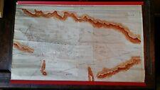 AN UNUSUAL LARGE VINTAGE HAND DRAWN MAP / PLAN KARAMAN SOGHLA RECLAMATION TURKEY