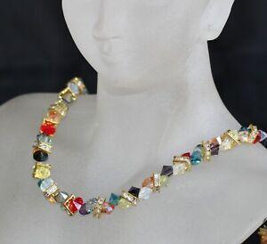 Swarovski Colourful Crystal Necklace (Adjustable)