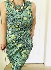 ANNE KLEIN DRESS WOMENS PRINTED LINED TAILORED POLYESTER ZIP BACK SZ 8