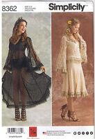 Sheer Lace Dress Top Skirt Steampunk Wedding Costume Sew Pattern 14 16 18 20 22