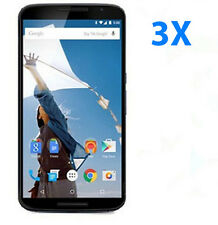 3Pcs Motorola Google Nexus 6 Clear LCD Display Screen Protector Guard Films