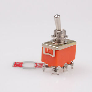 1Pc AC 250V 15A ON/ON 2 Positions DPDT 6 Screw Pin Toggle Switch E-TEN 1321