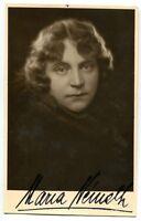 MARIA NEMETH - orig. Autogramm - autograph, signed