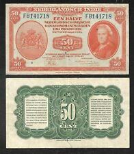 Netherlands Indies - Old 50 Cent Note - 1943 - P110a - FINE/VF