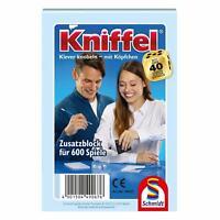 Schmidt Spiele Kniffelblock, Zusatzblock, Familienspiel, Spiel, 2 bis 8 Spieler