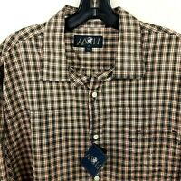 HSM NEW Hart Schaffner Marx Shirt Mens XL Button Down Plaid Long Sleeve Ori $125